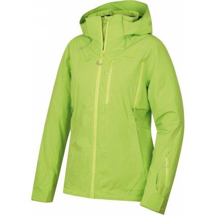 Dámská hardshell plněná bunda HUSKY Montry L výrazně zelená