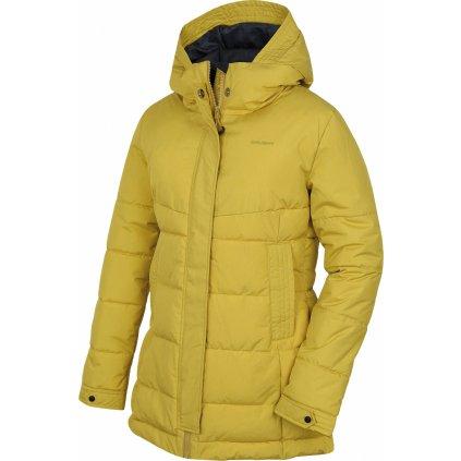 Dámský hardshell plněný kabátek HUSKY  Nilit L žlutozelená