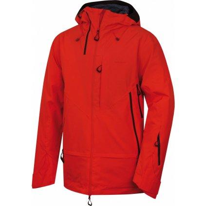 Pánská hardshell bunda HUSKY Gambola M výrazně červená
