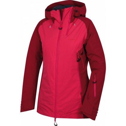 Dámská hardshell plněná bunda  HUSKY Gambola L purpurová / růžová
