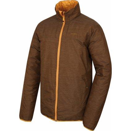 Pánská plněná oboustranná bunda HUSKY Nodiq M krémově žlutá / tm.hořčicová