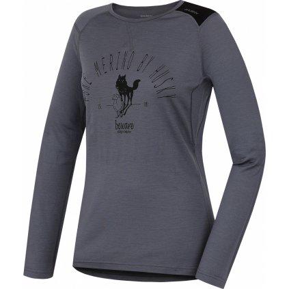 Dámské triko HUSKY Merino termoprádlo dlouhé Sheep šedá