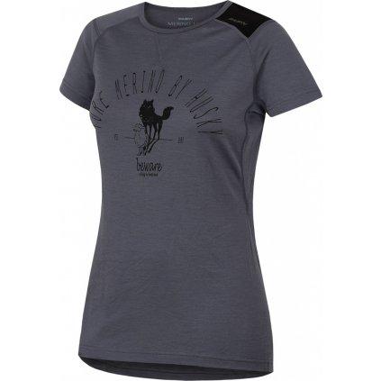 Dámské triko HUSKY Merino termoprádlo krátké Sheep šedá