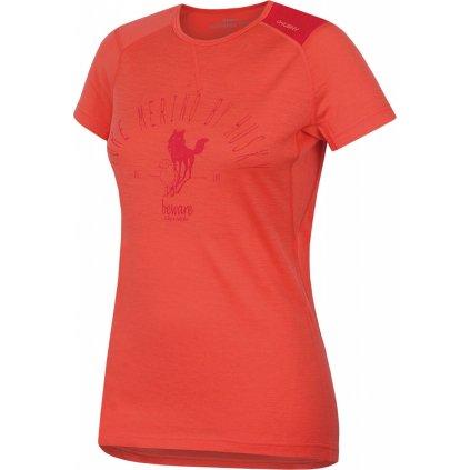 Dámské triko HUSKY Merino termoprádlo krátké broskvová