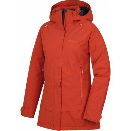 Dámský hardshell plněný kabátek HUSKY Nigalo L tl. korálová