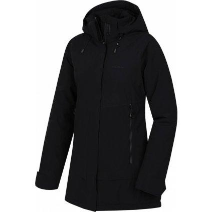 Dámský hardshell plněný kabátek HUSKY  Nigalo L černá