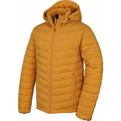 Pánská péřová bunda HUSKY  Donnie M krémově žlutá