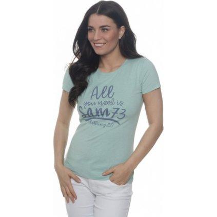 Dámské triko SAM 73 s krátkým rukávem mintová