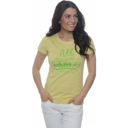 Dámské triko SAM 73 s krátkým rukávem žluto - zelená