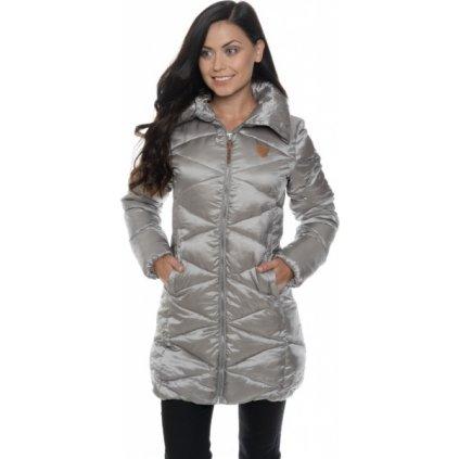 Dámský kabát SAM 73 stříbrno - béžová