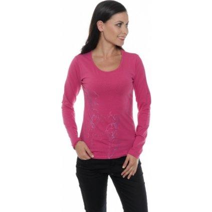 Dámské triko SAM 73 s dlouhým rukávem Ltsp544 415sm růžová - fuchsia xs