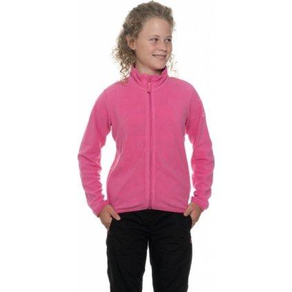 Dívčí mikina SAM 73 - fleece KswpP110 407sm růžová 92-98