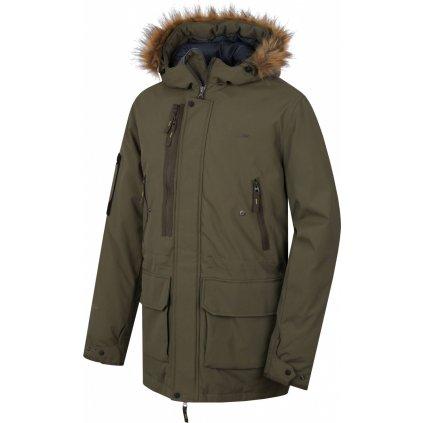 Pánský plněný zimní kabát HUSKY Nelidas M tm. khaki
