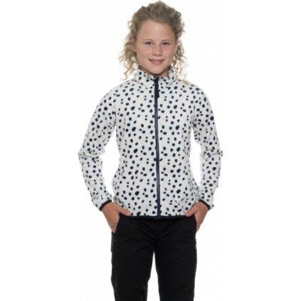 Dívčí mikina SAM 73- fleece Kswp111 000sm bílá 116-122