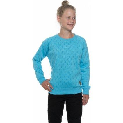 Dívčí mikina SAM 73 Modrá neon