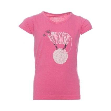 Dívčí triko s krátkým rukávem SAM 73 Růžová