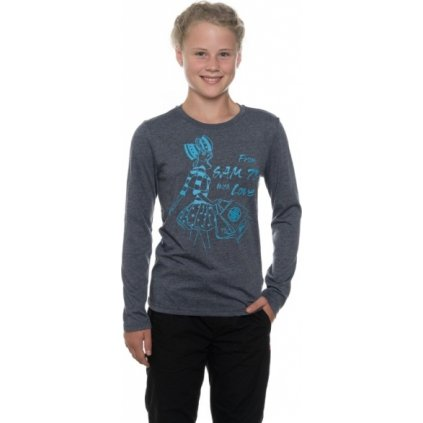 Dívčí triko s dlouhým rukávem SAM 73 Modrá tmavá