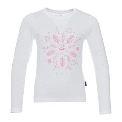 Dívčí triko s dlouhým rukávem SAM 73 Bílá