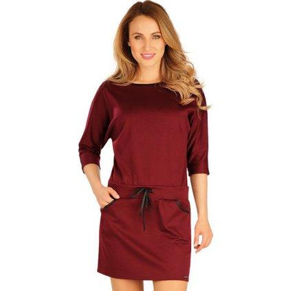 Šaty dámské s 3/4 rukávem LITEX  Bordo