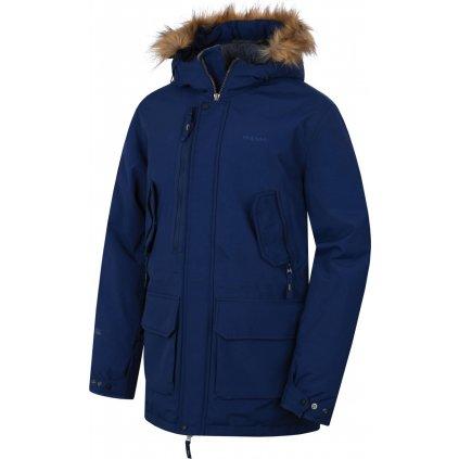 Pánský plněný zimní kabát  Nelidas HUSKY modrá