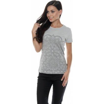 Dámské triko SAM 73 s krátkým rukávem šedá světlá