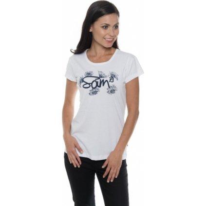 Dámské triko SAM 73 s krátkým rukávem Ltsp533 000sm bílá xs