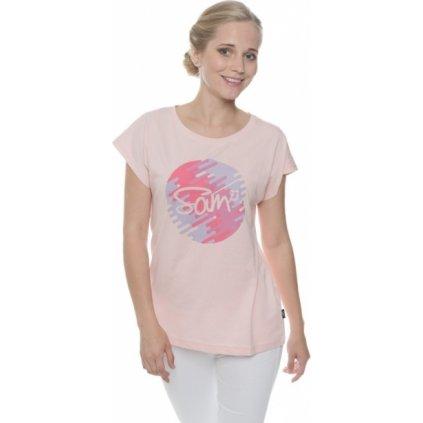 Dámské triko SAM 73 s krátkým rukávem Ltsp541 413sm světle růžová xs
