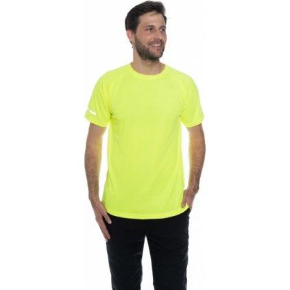 Pánské triko SAM 73 s krátkým rukávem Mtsn392 530sm žlutá neon s