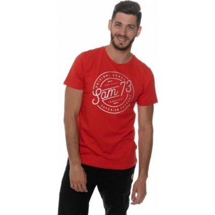 Pánské triko SAM 73 s krátkým rukávem Mtsp429 475sm červená s