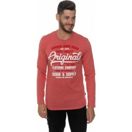Pánské triko SAM 73 s dlouhým rukávem Mt 758 135 červená xs