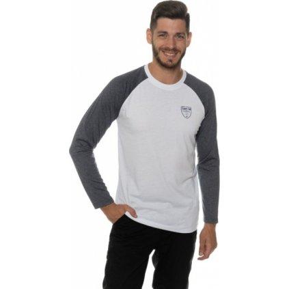 Pánské triko SAM 73 s dlouhým rukávem bílá