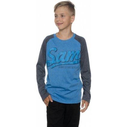 Chlapecké triko SAM 73 s dlouhým rukávem Bt 531 220 modrá jasná 116