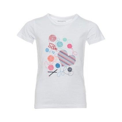 Dívčí triko SAM 73 s krátkým rukávem Ktsp248 000sm bílá 92-98