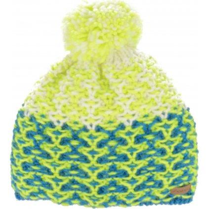 Zimní čepice RELAX Amelia zeleno,modrá
