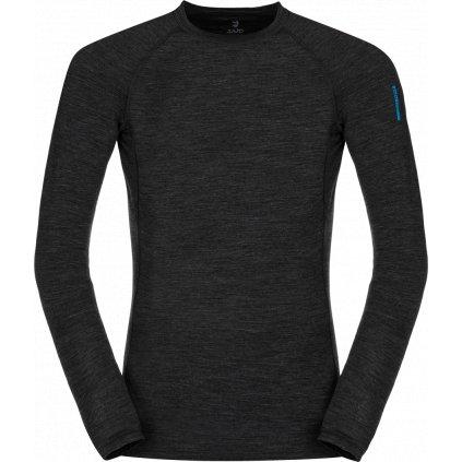 Pánské thermo triko ZAJO Bjorn Merino Tshirt LS černá 2
