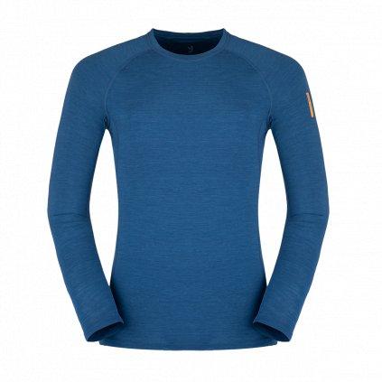 Pánské thermo triko ZAJO  Bjorn Merino Tshirt LS modrá 2