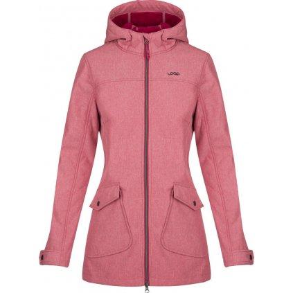 Dámský softshellový kabát LOAP Latisha růžová