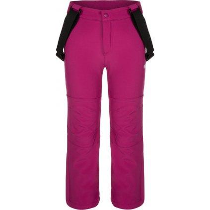Dětské softshellové kalhoty LOAP Lonny růžová