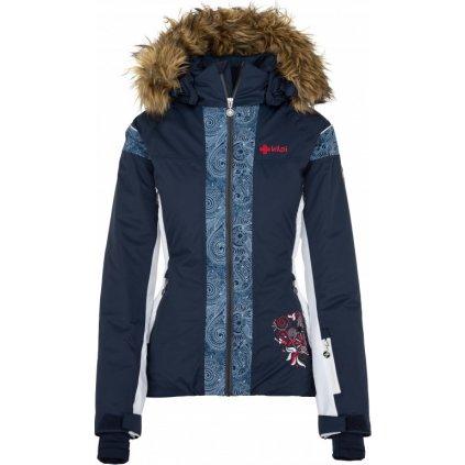 Dámská lyžařská bunda KILPI Delia-w tmavě modrá
