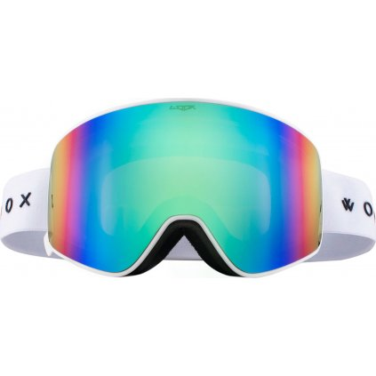 Lyžařské brýle WOOX Opticus Temporarius White/Gre