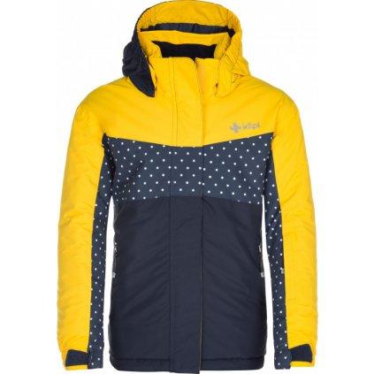 Dívčí lyžařská bunda KILPI Mils-jg žlutá