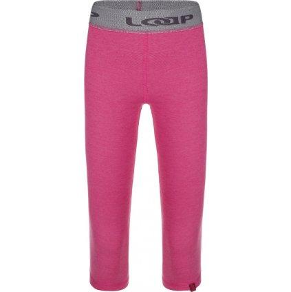 Dětské termo kalhoty LOAP Pitris růžová