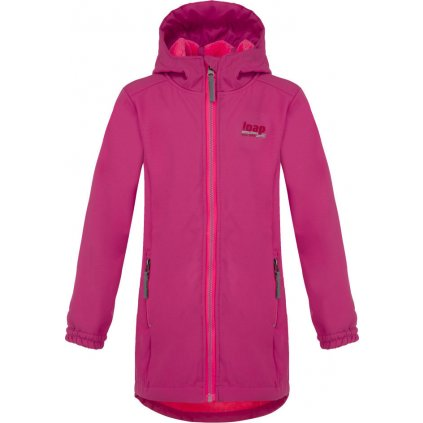 Dětský softshellový kabát LOAP Lajka růžová