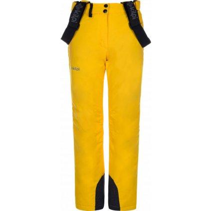 Dívčí lyžařské kalhoty KILPI Elare-jg žlutá