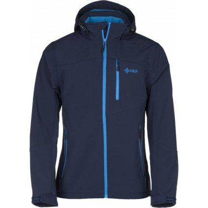 Pánská softshellová bunda KILPI Elio tmavě modrá