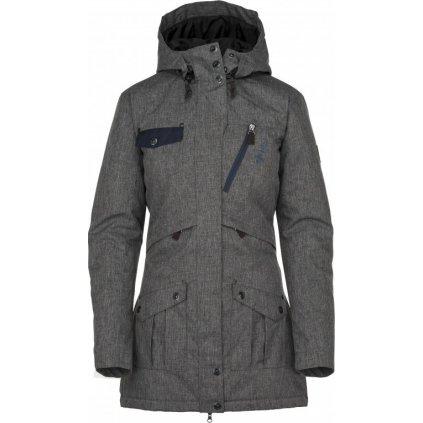 Dámský zimní kabát KILPI Brasil-w tmavě šedá