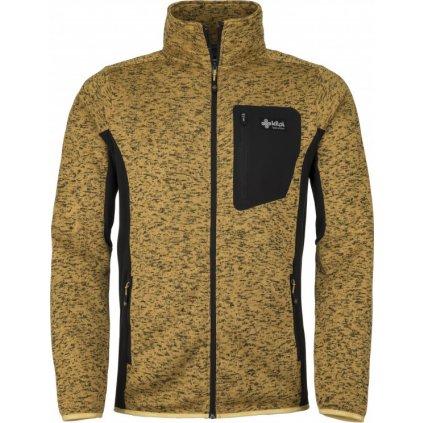 Pánský fleece svetr KILPI Rigan-m žlutá