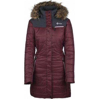 Dámský zimní kabát KILPI Baara-w červená