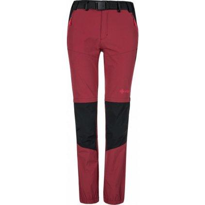 Dámské outdoorové kalhoty KILPI Hosio-w tmavě červená