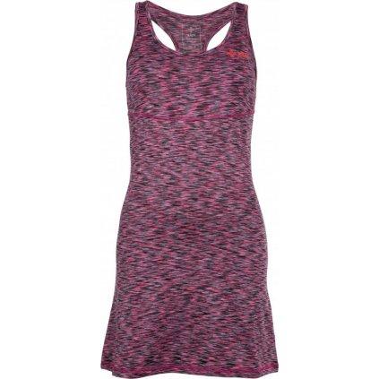 Dámské elastické šaty KILPI Sonora-w růžová